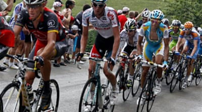 Close race at Tour de France