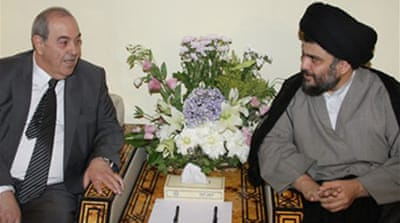 Allawi seeks Iraq support from Sadr