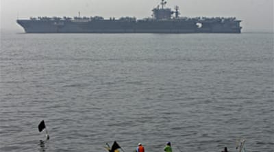 US carrier deployed to South Korea