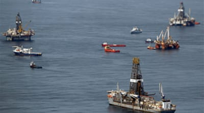 US oil spill 'clearing fast'