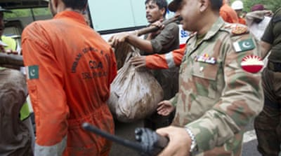 Rains hamper Pakistan crash search