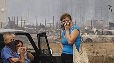 Dozens die as Russian fires spread