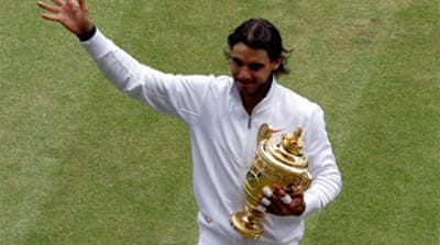 Nadal storms to Wimbledon win