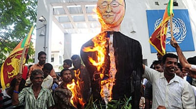 Sri Lankans protest over UN inquiry