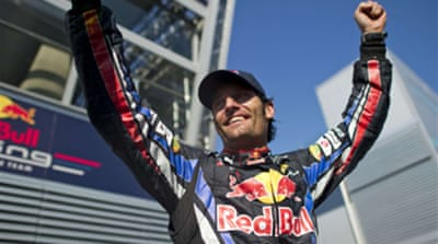 Webber takes championship lead