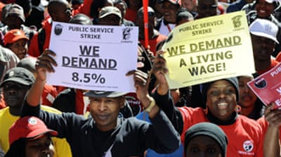 S African workers strike over wages