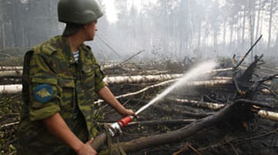 US helps Russia tackle wildfires