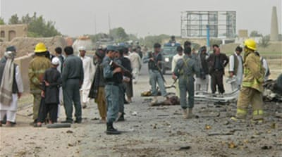 Suicide bomb kills Afghan children