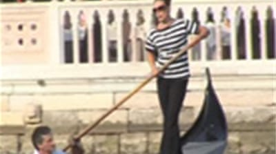 Venice's first female gondolier