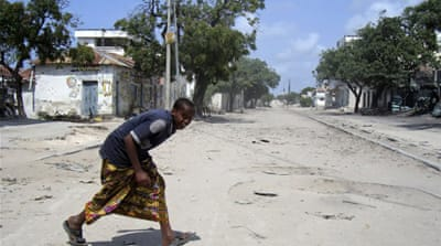 Somali presidential palace shelled