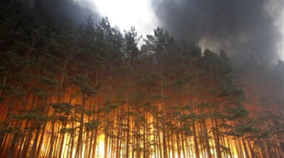 Medvedev sacks officials over fires