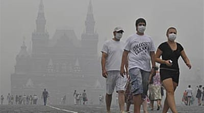 Wildfire smog sparks Moscow chaos