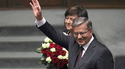 Poland swears in new president