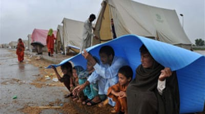 Rains hammer flood-hit Pakistan