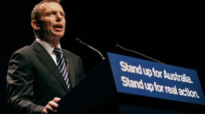 Australia opposition opens campaign