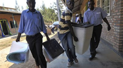Voting ends in Rwandan election