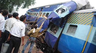 Deaths in India train collision