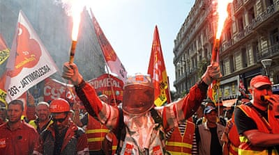 French unions in new set of strikes