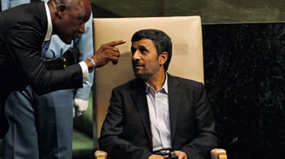 UN walkout over Ahmadinejad speech