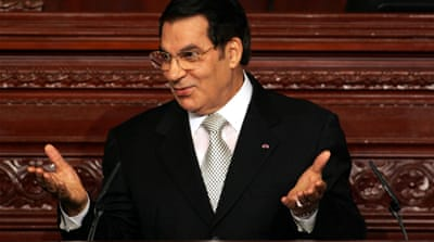 Tunisia files cases against Ben Ali