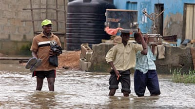 Nigeria floods displace millions