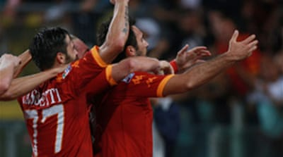 Last-gasp Roma beat Inter