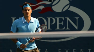 Federer progresses in US Open