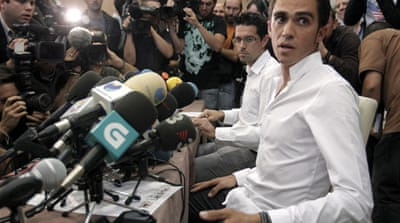 Contador maintains innocence