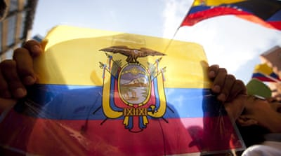 Global support for Ecuador leader