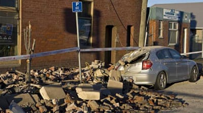 New Zealand hit by powerful quake