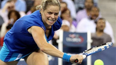 Clijsters sets up Venus semi-final