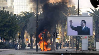 Tunisia's Ben Ali flees amid unrest