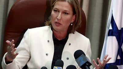 S Africa groups seek Livni arrest