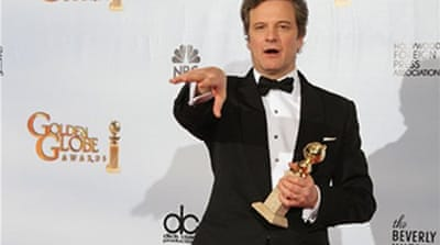 Portman and Firth win Golden Globes