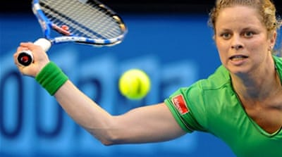 Clijsters eases past Safina at Open