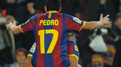 Pedro fills in for Messi