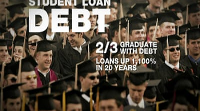 US students drown in sea of debt