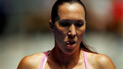 Jankovic crashes out in Melbourne