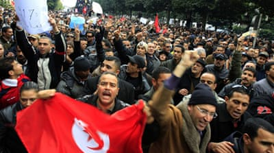 Police join protests in Tunisia