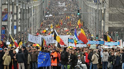 Belgians demand unity government