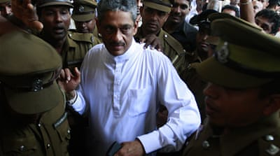 Sri Lanka extends ex-army's chief jail term