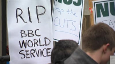 Anger as BBC cuts services