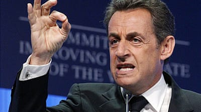 Sarkozy vows to protect the euro