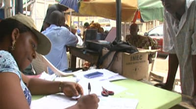 Nigeria struggles to register voters