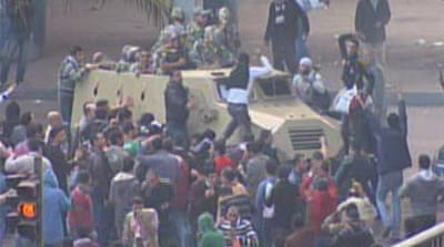 Military out in Cairo