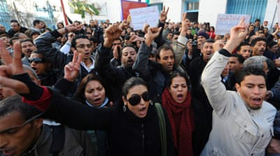 Pictures: Tunisia's uprising