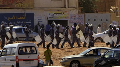 Sudan police clash with protesters