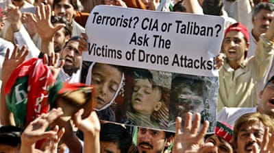 Protests against drone strikes in Pakistan have resulted in fewer strikes since the peak period for strikes around 2009 to 2012  [EPA]