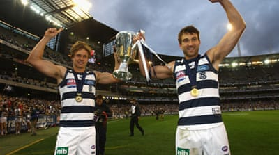 Geelong crush Collingwood in AFL grand final