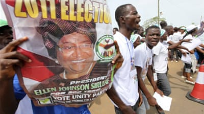 Liberia's Johnson-Sirleaf leads early results